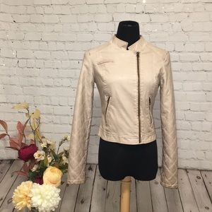 ✌🏻 FREE PEOPLE Vegan Leather Moto Jacket
